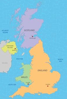 Karte von vereinigtes königreich