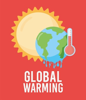 Karte zur globalen erwärmung