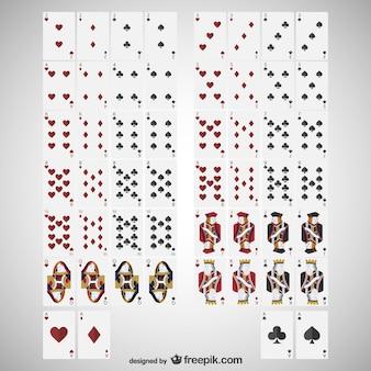 Karten deck vektor