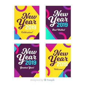 Karten des neuen jahres 2019
