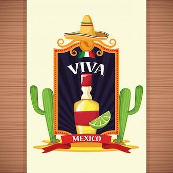 Karten mit viva-mexiko-karten