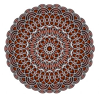 Karten oder einladungen mit mandalamuster von hand gezeichnete in hohem grade ausführliche runde mandalaelemente der vektorweinlese