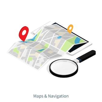 Karten- und navigationsortanwendung
