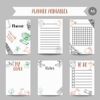 Karten und symbole für organisierten sie planer.
