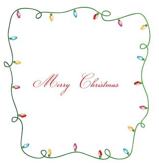 Kartenabbildung der frohen weihnachten der weihnachtslichter
