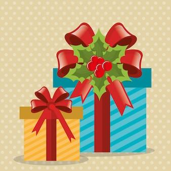 Kartendesign der frohen weihnachten und des guten rutsch ins neue jahr