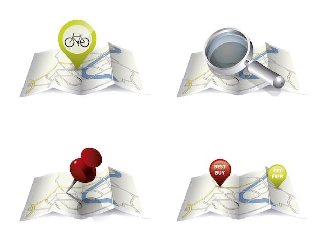 Kartenentwurfsansammlung