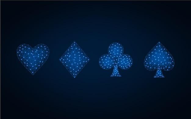 Kartenklage niedriger blauer polyhintergrund