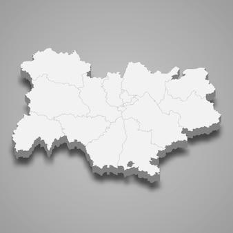 Kartenregion von frankreich