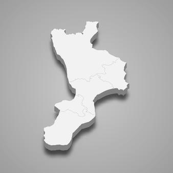 Kartenregion von italien