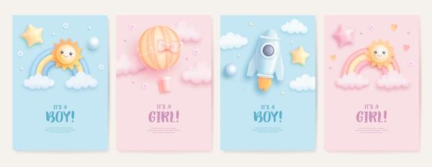 Kartensammlung zur babyparty