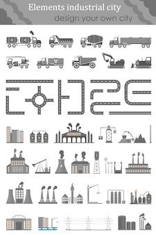 Kartensatz für die industriestadt