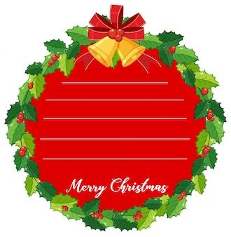 Kartenschablone mit misteln für weihnachten