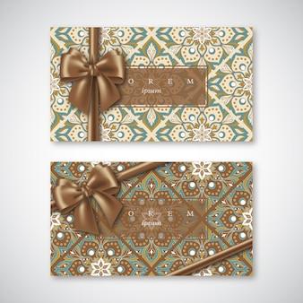 Kartenset im orientalischen stil