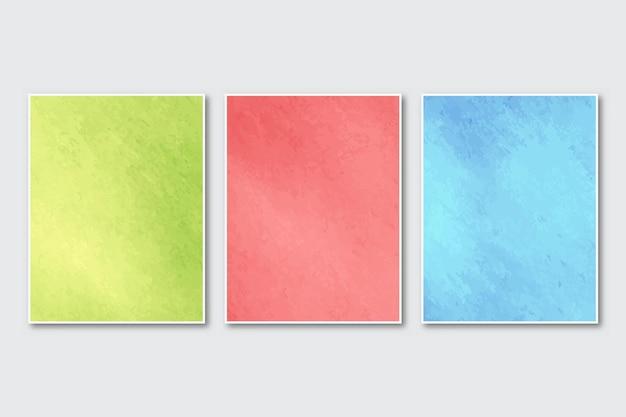 Kartenset mit kreativem minimalistischem handgemaltem abstraktem aquarelldesign