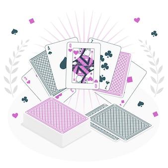 Kartenspielkonzeptillustration concept