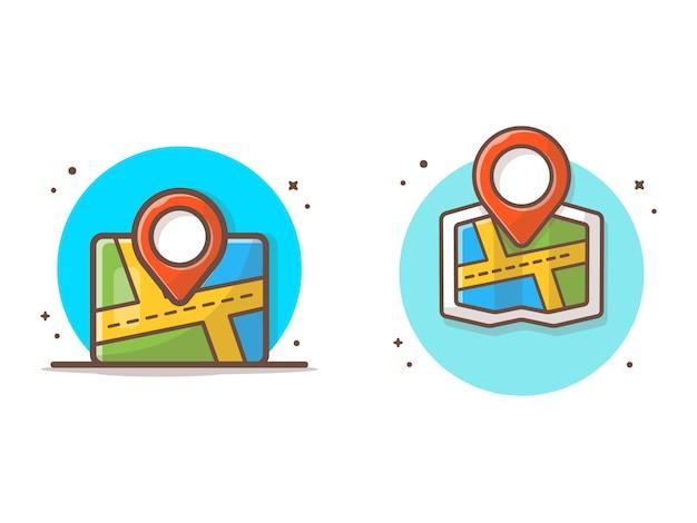 Kartenstandort-vektor-ikonen-illustration