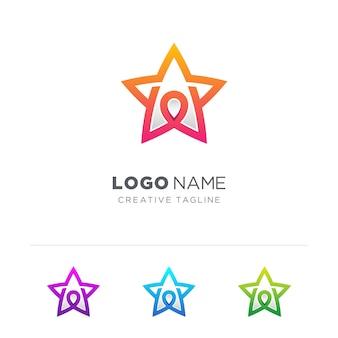 Kartenstift mit stern-logo