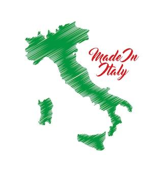 Kartensymbol italien kultur design. vektorgrafik