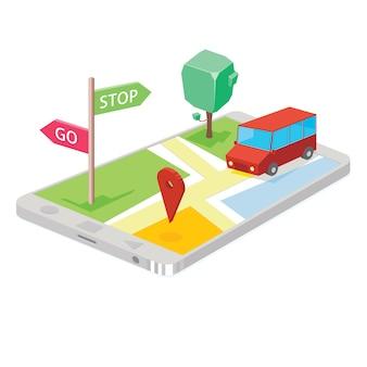 Kartentechnologie auf dem smartphone