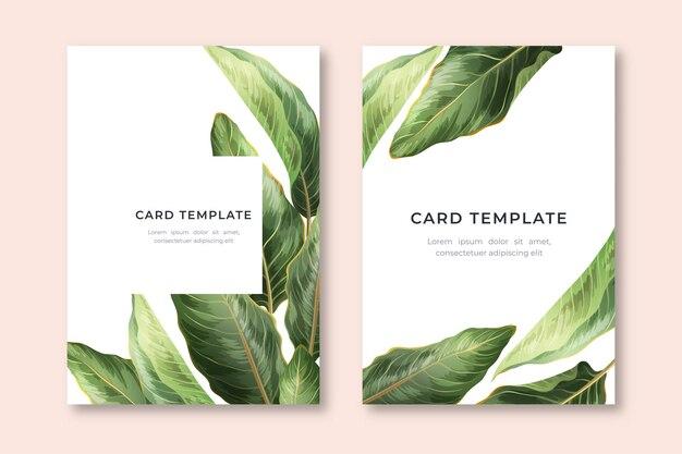 Kartenvorlage mit palmblättern