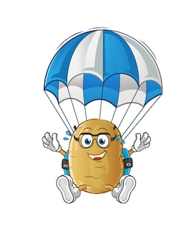 Kartoffel fallschirmspringen charakter
