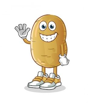 Kartoffel-zeichentrickfigur