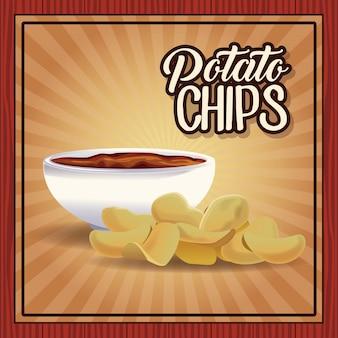 Kartoffelchips-rahmen