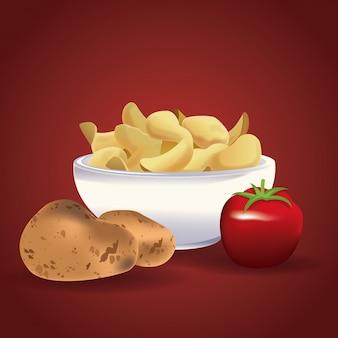 Kartoffelchips snacks