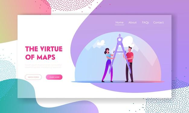 Kartographie, navigation landing page vorlage