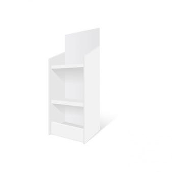 Karton retail display stand bodenregal. illustration