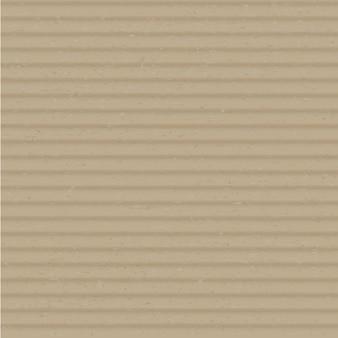 Karton schließen oben realistischen vektorquadrathintergrund. braune gewellte schichtkartonoberflächenillustration. klares bastelpapier, kartonmaterialabdeckung. beige karton textur