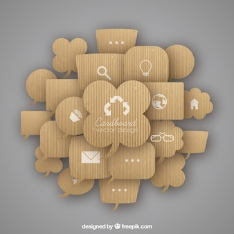 Karton sprechblasen