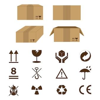 Karton-symbol-zeichen