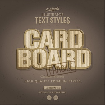 Karton textstil