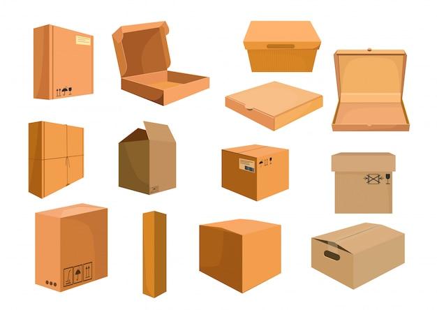 Kartons gesetzt