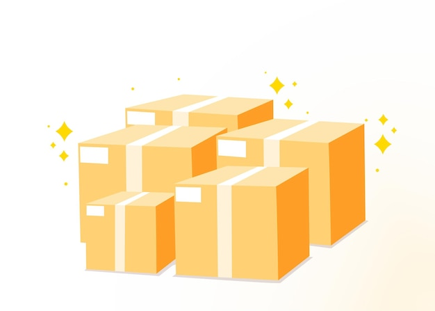 Kartonstapel von kisten