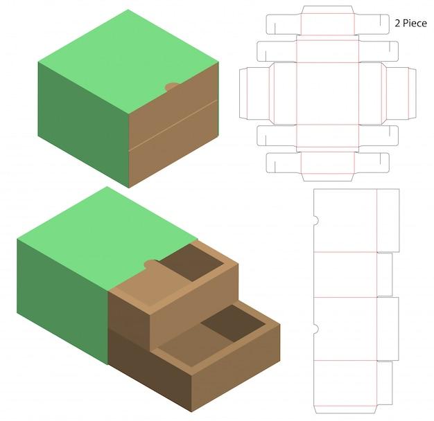 Kartonverpackung gestanzte schablonendesign
