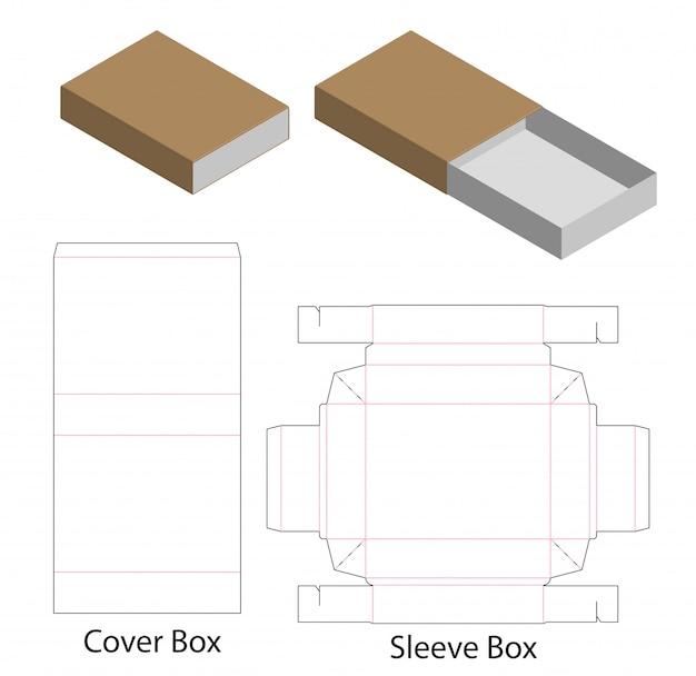 Kartonverpackung gestanzte template-design. 3d-modell