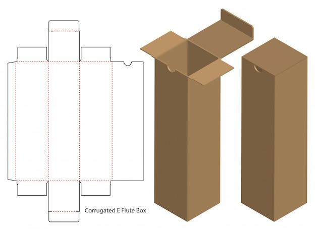 Kartonverpackung gestanzte template-design