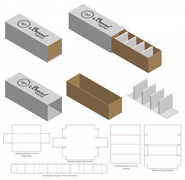 Kartonverpackung gestanzte vorlage design 3d-modell