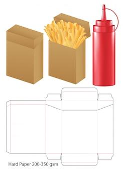 Kartonverpackung gestanzte vorlage design