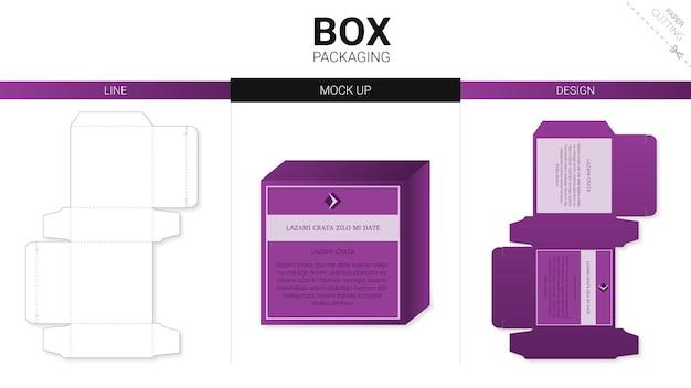 Kartonverpackung und gestanzte schablone
