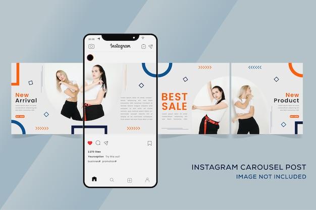 Karussell instagram vorlagen banner für mode verkauf bunte premium