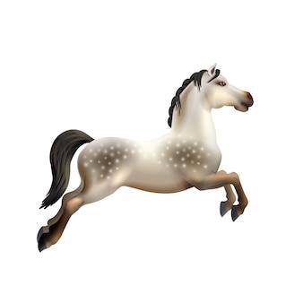 Karussell pferd isoliert
