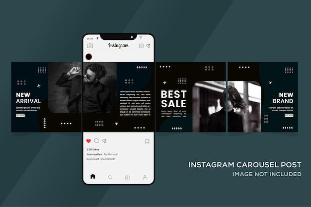 Karussellvorlagen für social media instagram premium