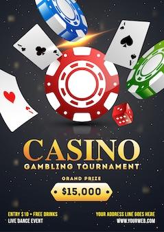 Kasino-spielturnier-schablonendesign