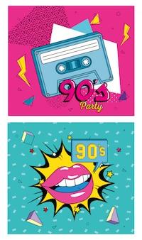 Kassette neunziger jahre retro-stil