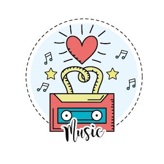 Kassette, um musik zu hören und zu spielen