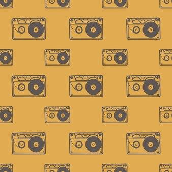 Kassettenmuster, musikillustration. kreatives und luxuriöses cover